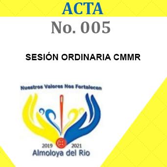 Acta 5 ordinaria
