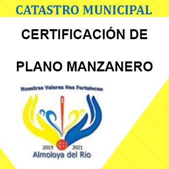 certificacion de plano manzanero
